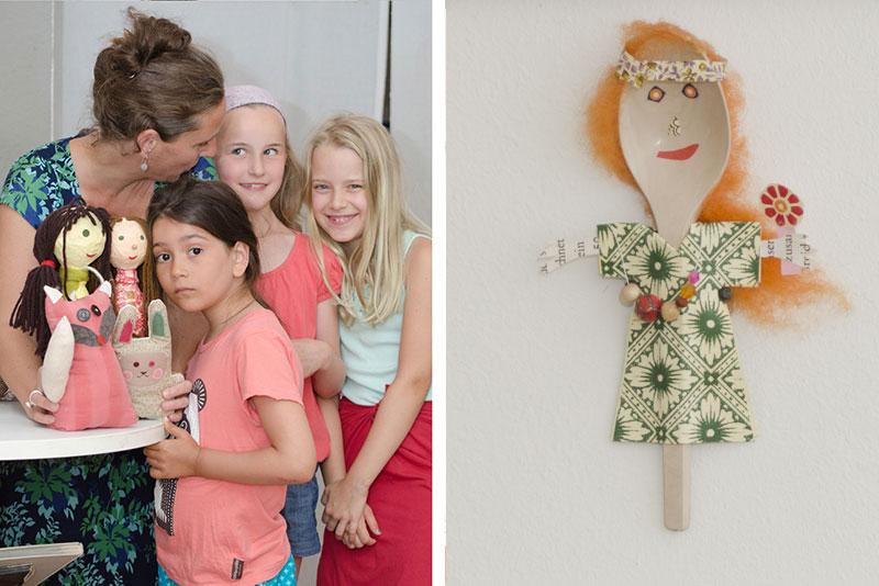 Imagereportage bokx-kreativ - Nähkurs für Kinder - Gruppenbild und Löffelfamilie