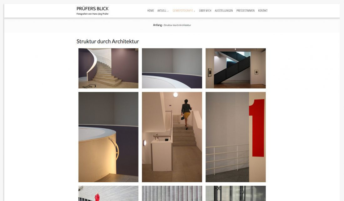 Screenshot der Website von Hans-Jörg Prüfer - Fotograf - Portfolio