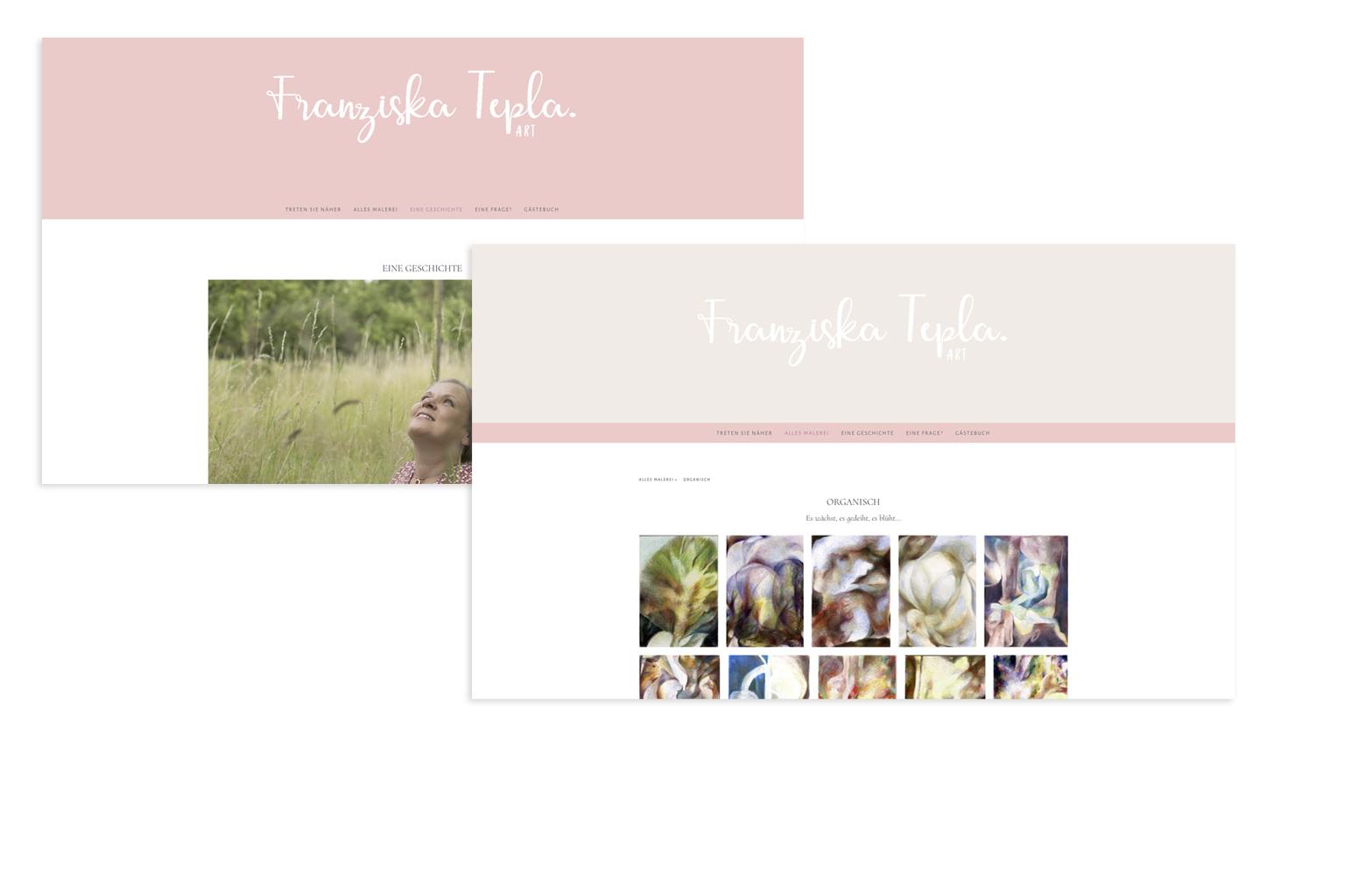 Website Franziska Tepla, Künstlerin