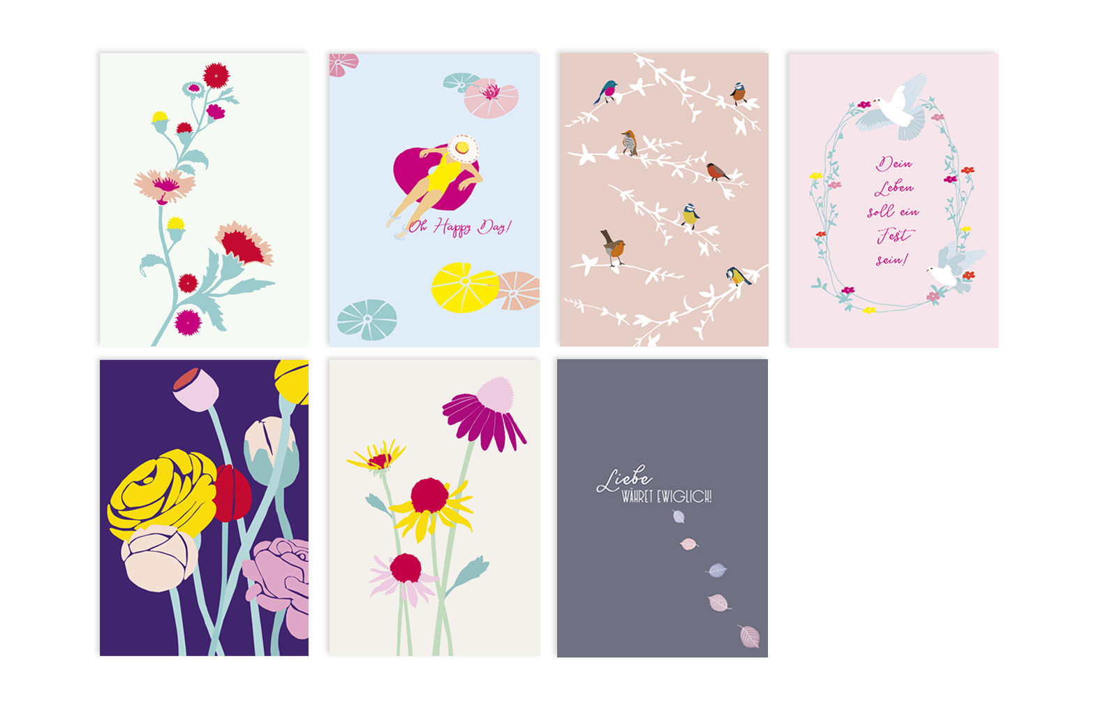Illustration Sommerkollektion
