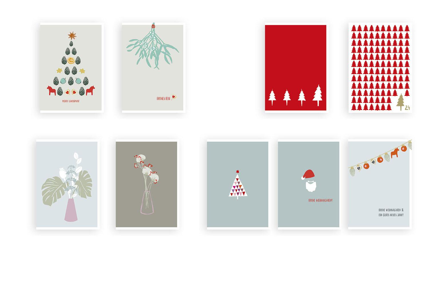 Illustration Weihnachtskarten