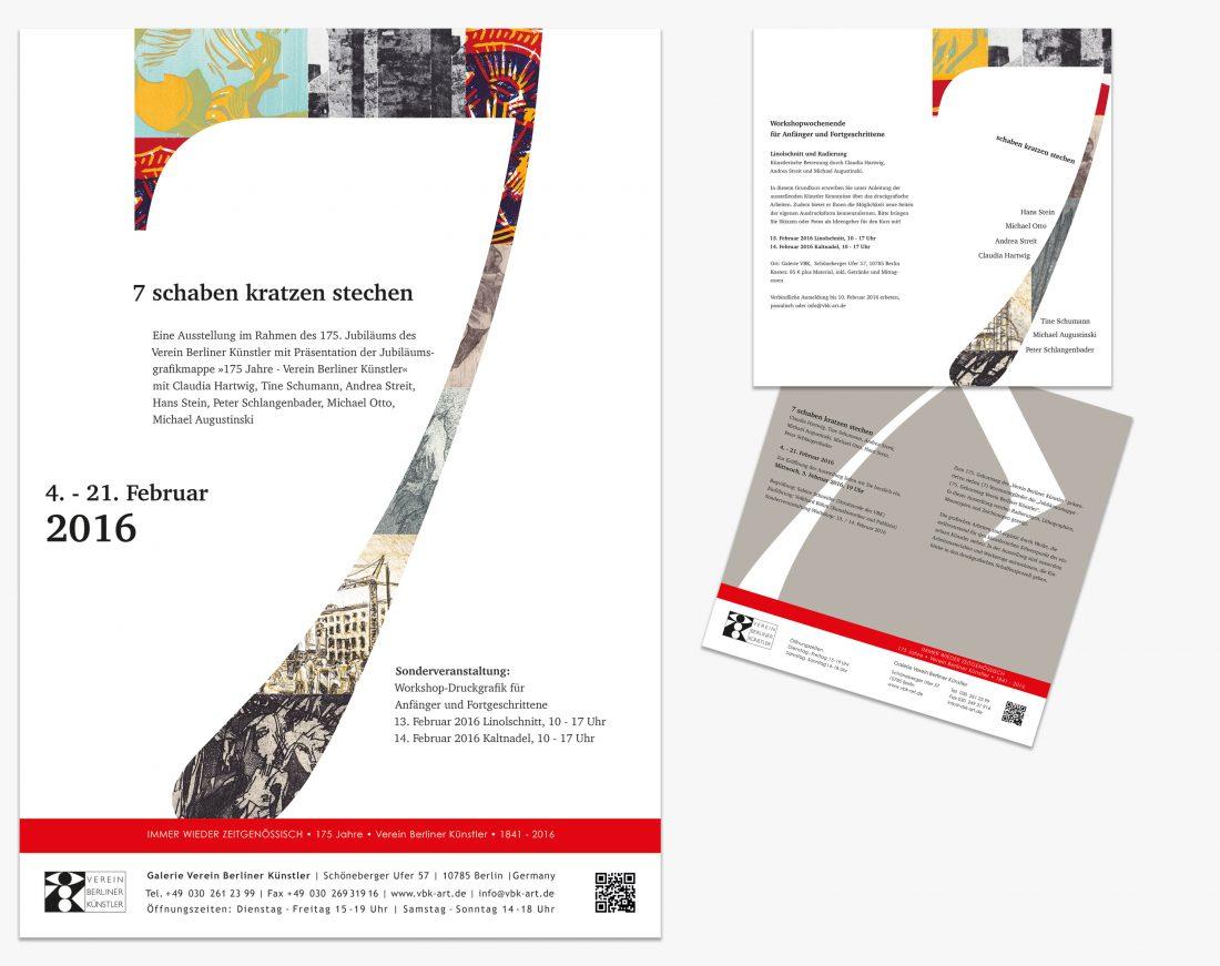 Plakat und Flyer für den VBK - Verein Berliner Künstler